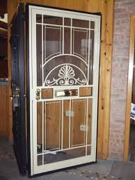French Security Doors - french styled steel security door with detailed iron decoration