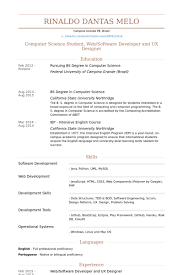 Computer Science Student Resume Sample by Ux Designer Resume Samples Visualcv Resume Samples Database