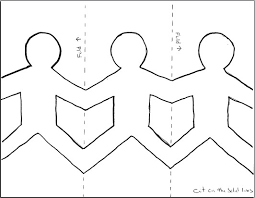 paper dolls holding hands template google search clw