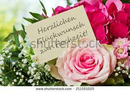 Congratulations On Your Marriage Cards English Wedding Anniversary Card Pink Flowerscongratulations Stock