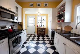 kitchen flooring mahogany laminate tile look black and white floor