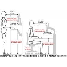 position assise bureau bureau électrique mobilier ergonomique tous ergo