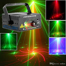 dj laser projector 18 patterns green club lighting