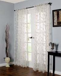 Embroidered Sheer Curtains Venice Embroidered Sheer Curtain Panel Pretty Windows
