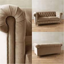 Beige Tufted Sofa by Sofas Center Tufted Chesterfield Sofa Beige Ivory Velvet Fabric