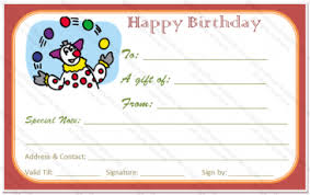 birthday gift card gift certificate templates