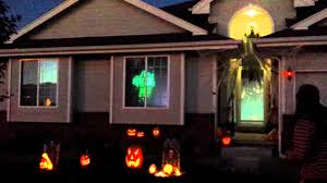 halloween 2015 outdoor decorations singing pumpkins u0026 ghosts in