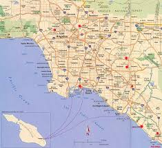 map usa la la map los angeles area attractions points of interest