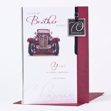 70th birthday card brother classic car only 1 49