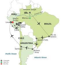 Amazon Rainforest Map Cosmos Tours Brazil Argentina U0026 Chile Unveiled With Brazil U0027s