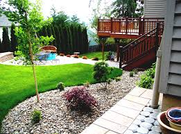 backyard patio ideas with above ground pool landscaping wooden