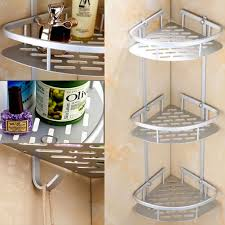 Bathroom Chrome Shelving by 3 Tier Corner Shower Caddy Basket Bathroom Chrome Cosmetic Shelf