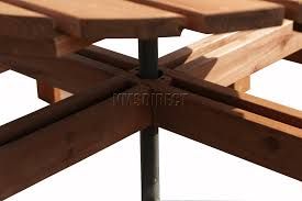 Table Gratifying Round Picnic Table Woodworking Plans Famous by 6 Seater Round Picnic Table Gallery Table Design Ideas