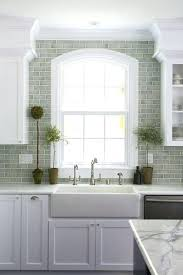 green subway tile kitchen backsplash green kitchen backsplash green ceramic tile green glass kitchen