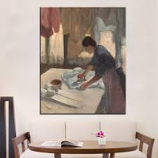 artisan home decor dp artisan woman ironing wall painting print on canvas for home