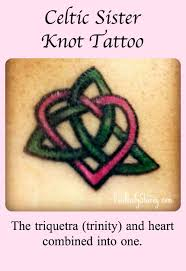 a celtic sister knot tattoo