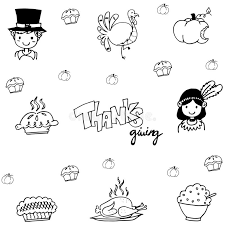 eat element doodle of thanksgiving stock vector image 73717998