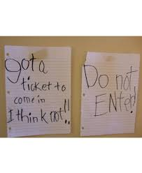 best keep out door signs from