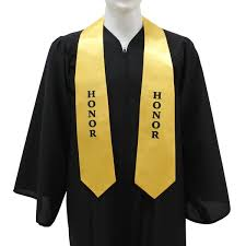 stoles graduation gold college honor stole gradshop