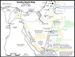 Spirit Route Map by The Exodus Route A Scriptural Proof With The Witness Of History