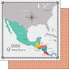 mexico america map mexico and central america map scrapbook paper