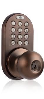 Keypad Interior Door Lock Milocks Dkk 02 Keyless Entry Knob Door Lock With Electronic