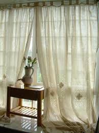 country lace curtains shabby chic french country curtain