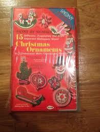 vtg arrow paint by number mahogany wood ornaments kit