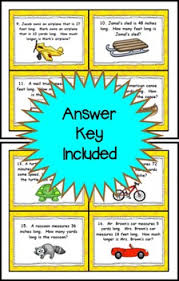 inches feet yards task cards customary units of measurement