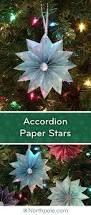 craft cottage accordion folded paper stars
