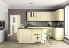 attractive kitchen with l shape design and ceramic back splash