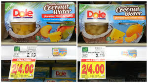 dole fruit bowls dole fruit bowls in slightly sweetened coconut water 4 ct as low