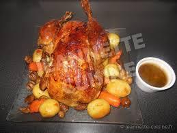cuisine chapon roti chapon farci au foie de veau rôti au four plat jeannette cuisine