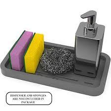 Kitchen Sink Tray Sponge Holder Kitchen Sink Organizer Sink Caddy Silicone