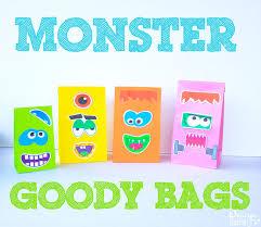 monster face halloween goody bags free printable halloween
