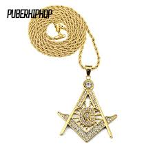 aliexpress vintage necklace images Jfy 2017 antique vintage gold bling masonic mason knight templar jpg