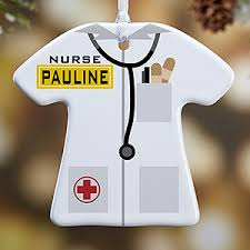 Nurse Christmas Ornament - personalized christmas ornaments medical doctor 1 sided