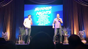 property brothers jonathan and drew scott sing u201csummer nights u201d at