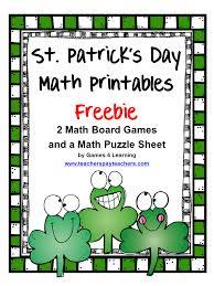 fun games 4 learning st patrick u0027s day math freebies