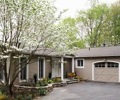 ranch style home ideas asphalt driveway driveways and stone walls