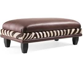 Animal Print Storage Ottoman Furniture Kudu Brown Leather On With Zebra Ottoman Decorative