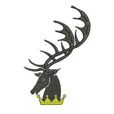 Stag Head Designs Machine Embroidery Design Instant Download Heraldic Stag Head