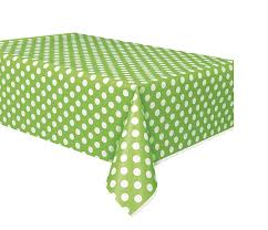 polka dot plastic tablecloth 108 x 54 lime green