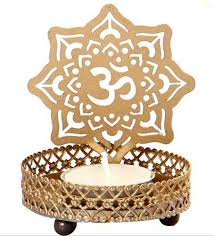 metal tea light holders round om decorative metal tea light holder at rs 120 piece t