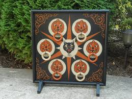 primitive halloween ring toss carnival ring toss game board