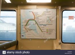 Bart Train Map Bart Bay Area Rapid Transit Train Route Map Posted In Car Stock