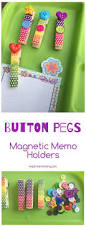 button pegs memo holders duct tape craft ideas and crafts