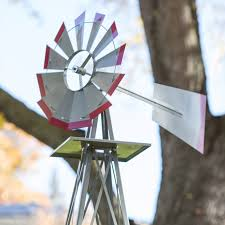 smv industries 8 ft windmill silver and red hayneedle