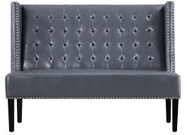 Tufted Banquette Bench Tov Halifax Faux Leather Banquette Bench U0026 Reviews Wayfair