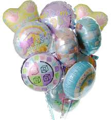 mylar balloon bouquet new baby balloon bouquet flower co